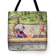 The Murder Of A Frenchman Tote Bag