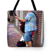 The Music Man And His Red Shoes Tote Bag