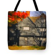 The Mysterious Witch House Of Salem Tote Bag