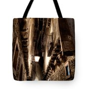 Narrow Street In Albarracin Tote Bag