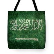The National Flag Of  Kingdom Of Saudi Arabia  Vintage Version Tote Bag