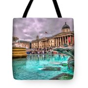 The National Gallery In Trafalgar Square Tote Bag