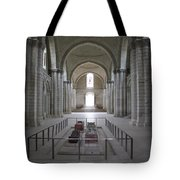 The Nave With Tombs Fontevraud Abbey Tote Bag