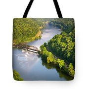 The New River From Hawks Nest Tote Bag