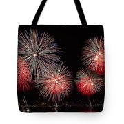 The New York City Skyline All Lit Up Tote Bag