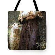 The Newborn Lamb Tote Bag