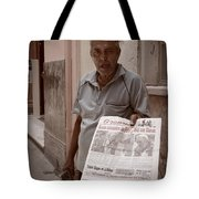 The Newspaper Seller Tote Bag