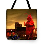 The Night Of The Lobster Man Tote Bag