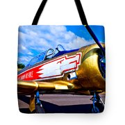The North American T-6 Texan Airplane Tote Bag by David Patterson