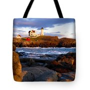 The Nubble Lighthouse Tote Bag by Steven Ralser