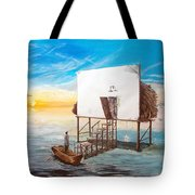 The Occult Listen With Music Of The Description Box Tote Bag by Lazaro Hurtado
