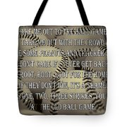 The Old Ballgame Tote Bag