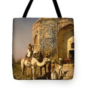 The Old Blue Tiled Mosque - India Tote Bag