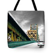 The Old Bridge Hwy 190 Mississippi River Bridge Baton Rouge Tote Bag