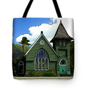 The Old Church In Hanalei Tote Bag