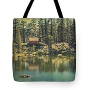 The Old Days By The Lake Tote Bag by Laurie Search