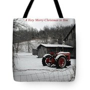 The Old Family Farm Christmas Card Tote Bag