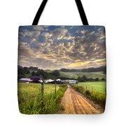 The Old Farm Lane Tote Bag by Debra and Dave Vanderlaan