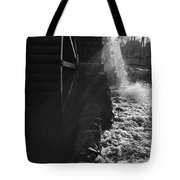 The Old Grist Mill - Black And White Tote Bag
