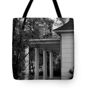 The Old Homestead In Black And White Tote Bag