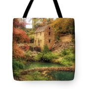 The Old Mill In Autumn - Arkansas - North Little Rock Tote Bag