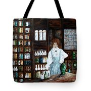The Old Pharmacy ... Medicine In The Making Tote Bag