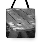 The Old Picnic Table Tote Bag