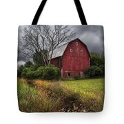 The Old Red Barn Tote Bag