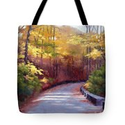 The Old Roadway In Autumn II Tote Bag