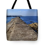 The Old Shipyard Pier Tote Bag