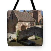 The Old Stone Bridge In Bruges Tote Bag