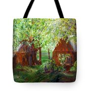 The Old Swing Between The House And The Barn Tote Bag
