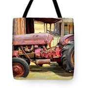 The Old Tractor Tote Bag by Michael Pickett