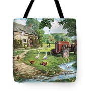 The Old Tractor Tote Bag by Steve Crisp