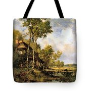 The Old Windmill Near Barbizon Tote Bag