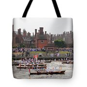The Olympic Torch Leaves Hampton Court On The Final Leg Of Its J Tote Bag