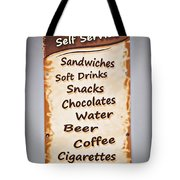 The One Stop Shop Tote Bag by Meirion Matthias