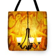 The Orange Lamp Tote Bag
