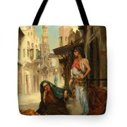 The Orange Seller Tote Bag by Fabbio Fabbi