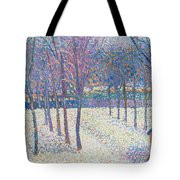 The Orchard Under The Snow  Tote Bag by Hippolyte Petitjean