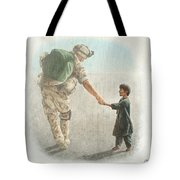 The Outcome Of War Is In Our Hands Tote Bag