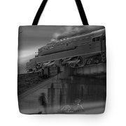 The Overpass 2 Panoramic Tote Bag