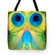 The Owl - Abstract Bird Art By Sharon Cummings Tote Bag