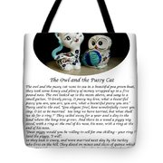 The Owl And The Pussy Cat Tote Bag by John Chatterley