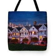 The Painted Ladies Of San Francsico Tote Bag