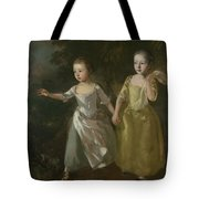 The Painter's Daughters Chasing A Butterfly Tote Bag