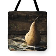 The Painter's Pear Tote Bag by Amy Weiss