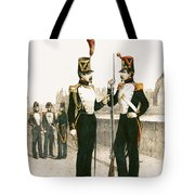 The Parisian Municipale Guard, Formed 29th July 1830 Coloured Engraving Tote Bag