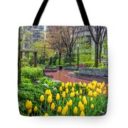 The Park At Post Office Square Tote Bag