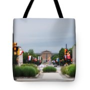 The Parkway And Art Museum Tote Bag